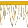 Beaded Fringe Trim Gold 6.5cm